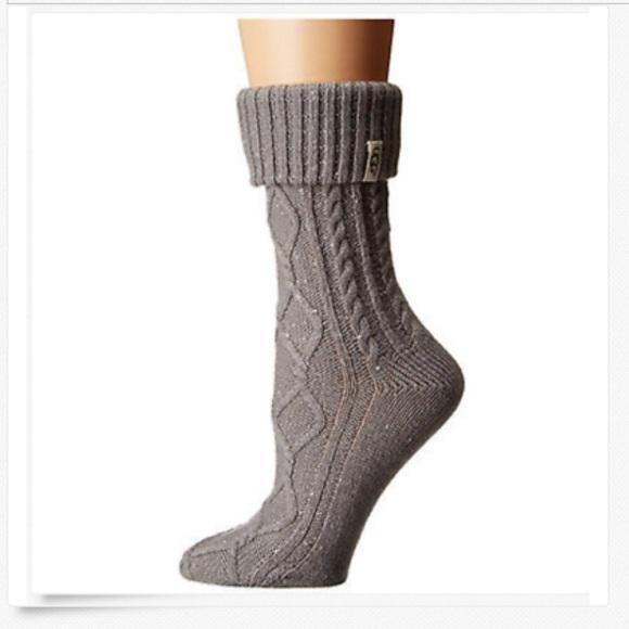 c6ffe2eac3a UGG Women's Sienna Short Rain Boot Sock Seal Gray NWT